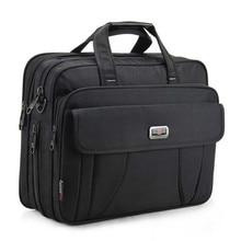새로운 최고 품질의 클래식 비즈니스 서류 가방 남자 어깨 가방 15 인치 노트북 가방 방수 내구성 여행 대형 핸드백 Maleta