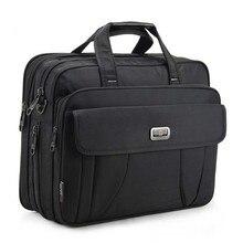 Yeni en kaliteli klasik iş evrak çantası erkek omuz çantaları 15 inç Laptop çantası su geçirmez dayanıklı seyahat büyük çanta Maleta