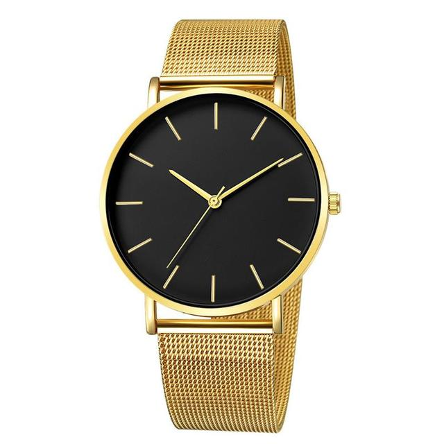 2019 Women Watches Mesh Band Stainless Steel Analog Quartz Wristwatch Minimalist Ladies Business watch Luxury Black reloj mujer 4
