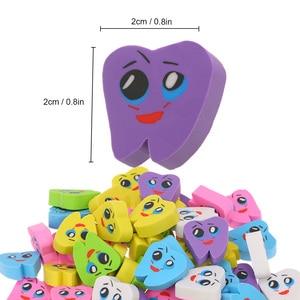 Image 3 - 50 pièces/sac molaire en forme de dent gommes en caoutchouc dentiste clinique école grand cadeau pour les enfants