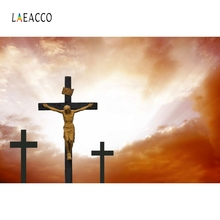 Laeacco Christ Jesus Sacred Cross Nature Backdrop Photography Backgrounds Customized Photographic Backdrops For Photo Studio
