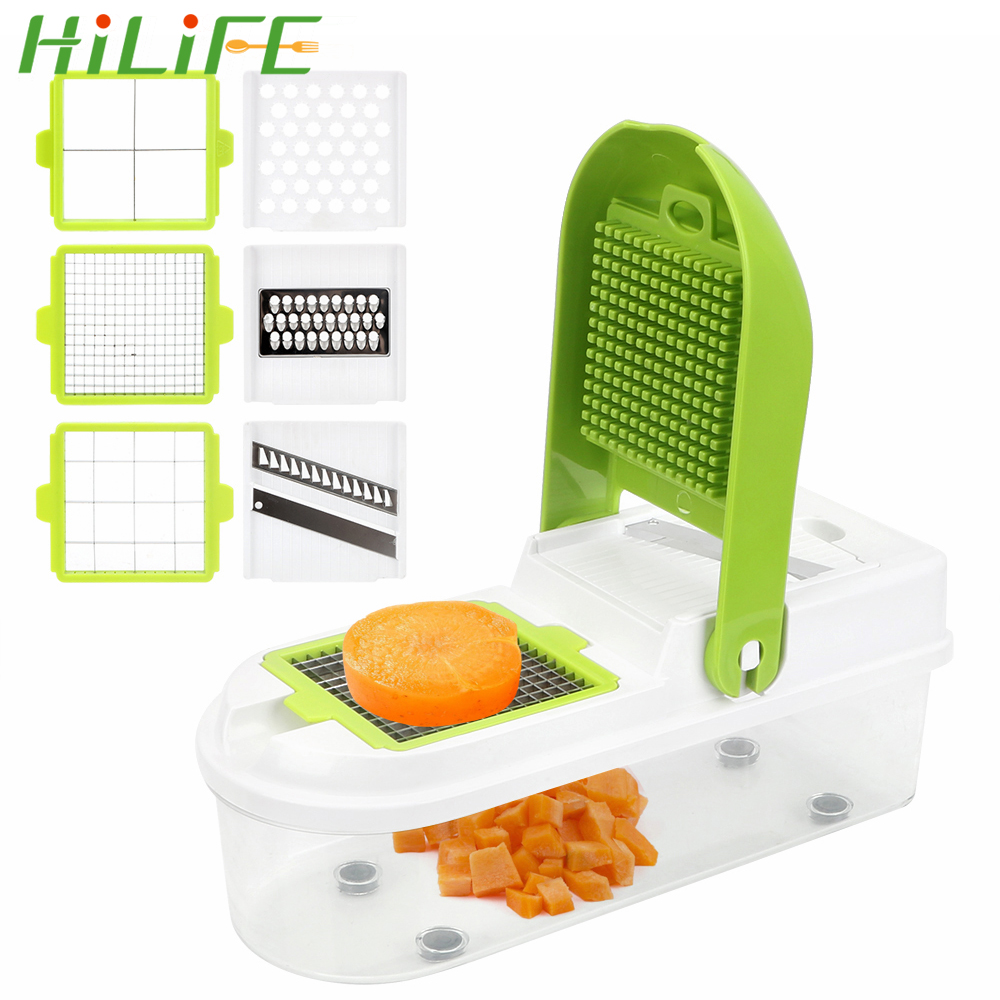 HILIFE Quick Vegetable Dicer Set Onion Mushroom Tomato Slicer Kitchen Vegetable Slicer Stainless Steel  Vegetable CutterHILIFE Quick Vegetable Dicer Set Onion Mushroom Tomato Slicer Kitchen Vegetable Slicer Stainless Steel  Vegetable Cutter