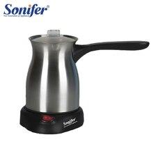 Aço inoxidável máquina de café turquia cafeteira 800 w elétrica cafeteira fervida leite chaleira para o presente 220 v sonifer