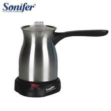 Edelstahl Kaffee Maschine Türkei Kaffee Maker 800W Elektrische Kaffee Topf Gekochte Milch Kaffee Wasserkocher für Geschenk 220V sonifer
