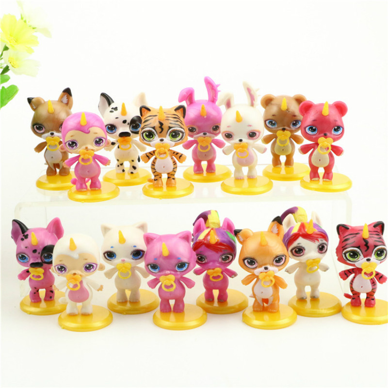 16pcs Poopsie Slime Surprise Unicorn Spit Mucus Doll Toys Stress Relief Toy Squeeze For Children With Base Action Toy Figures Toys & Hobbies