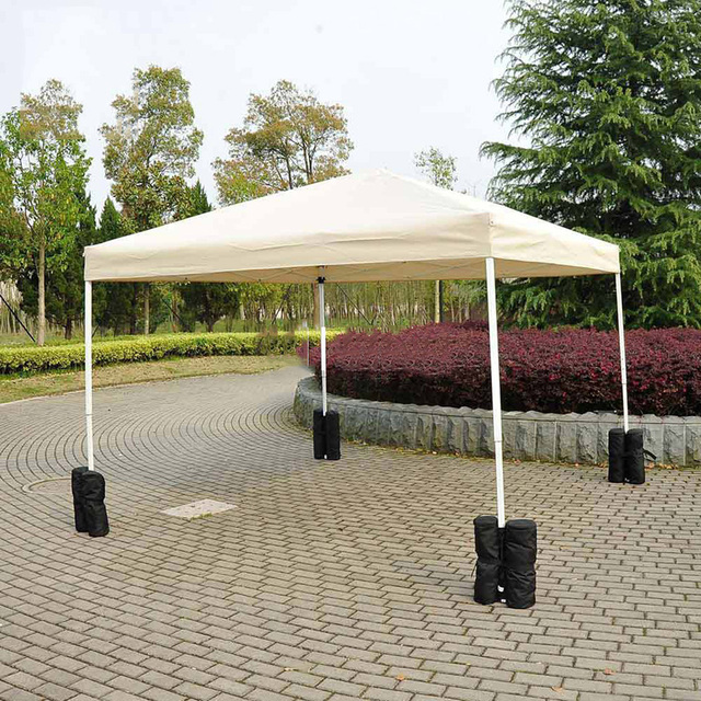 4pcs Windproof Tent Canopy Awning Display Shed Support Frame Fixed Windproof Sandbags outdoor Party supplies