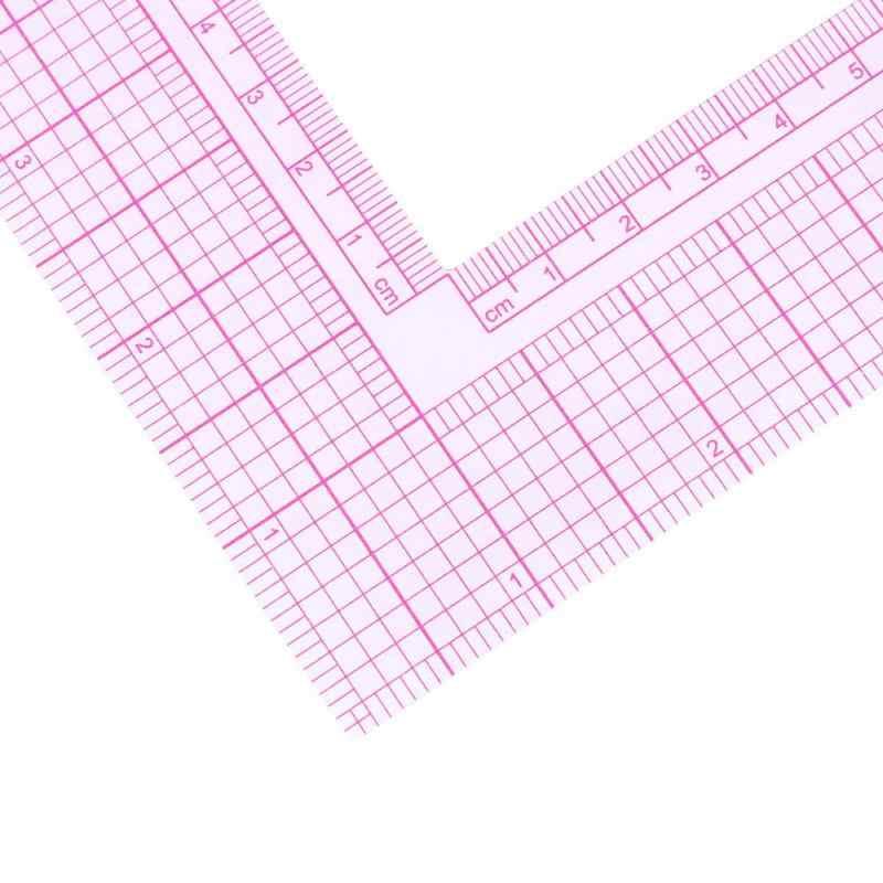 เย็บ Patchwork Quilting ไม้บรรทัดเสื้อผ้าพลาสติกตัด CRAFT ขนาดกฎ 21.5*21.5 ซม.5x30 ซม.ภาพวาดเครื่องเขียนอุปกรณ์เครื่องมือร้อน