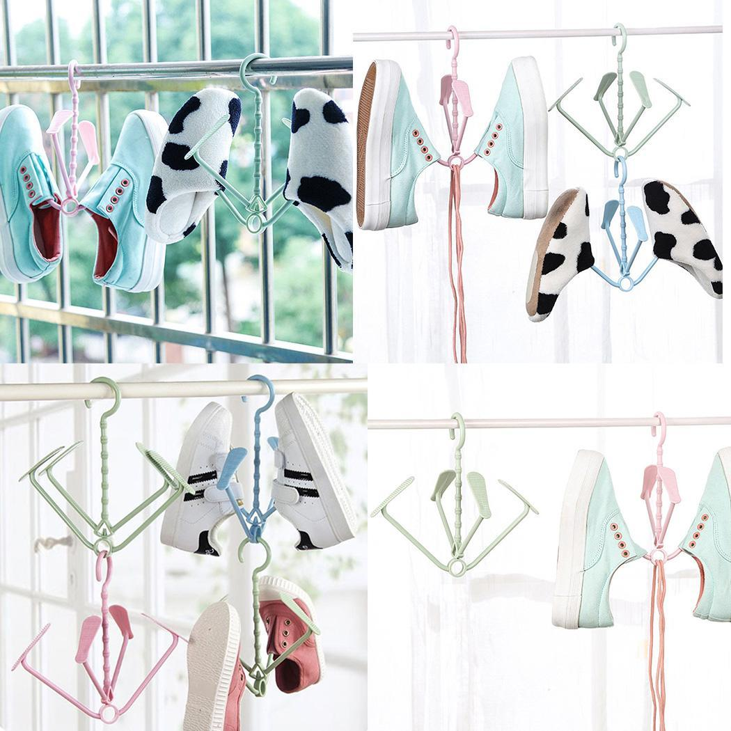 Drying Rack Rotary Shoes Cabinet etc Hanging Unisex Solid Hook Hanger Storage Folding Shape Home Shelf Organizer hot woman flats metal animal decor woman shoes pearl embellished woman loafers bow tie women shoes brand runway super star shoes