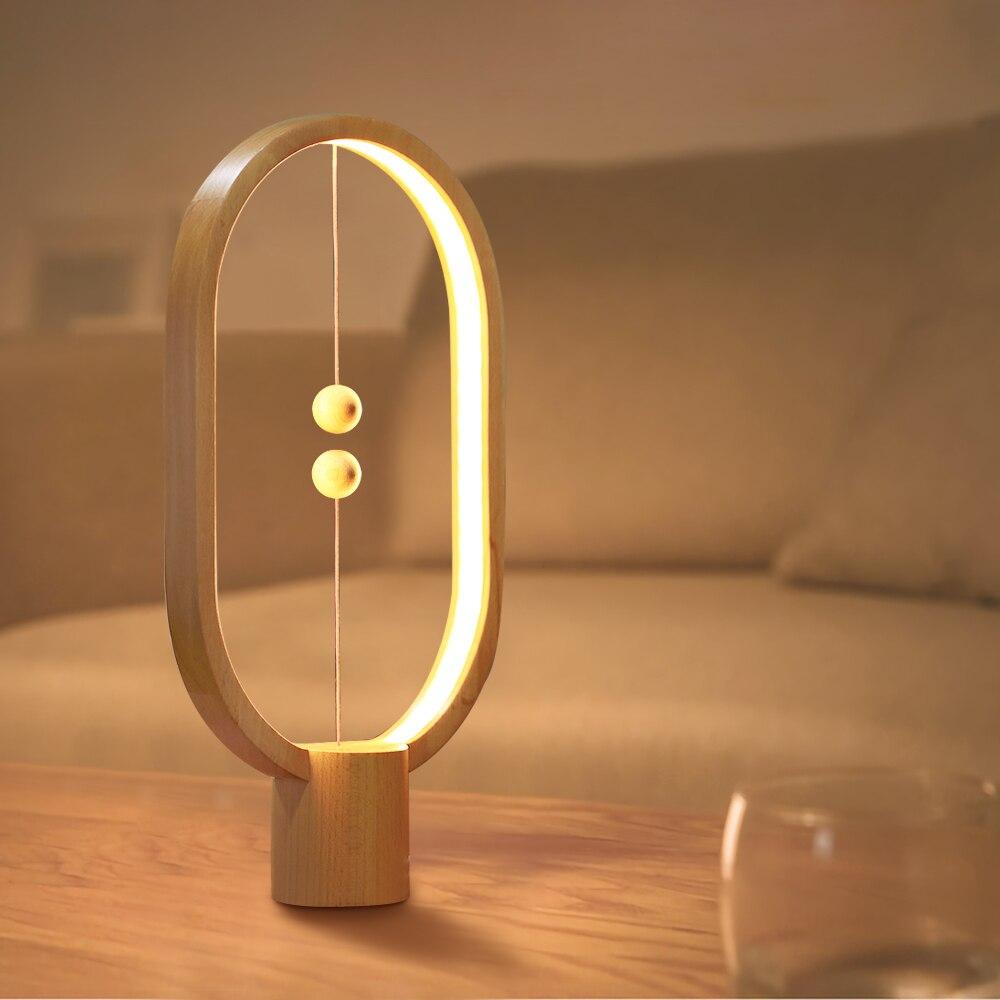 Allocacoc Heng equilibrio lámpara LED de luz de la noche con alimentación USB Oficina dormitorio mesa de noche lámpara novela luz casa decoración de iluminación interior