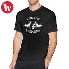 81223a7de98 Vengado siete veces T camisa la humanidad restaurada camiseta Streetwear  Tee Impresión de manga corta Camiseta