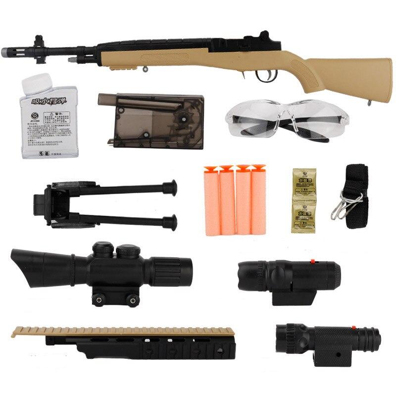 Zhenduo Jouet M14 pistolet jouet Gel Boule Blaster Au Stock