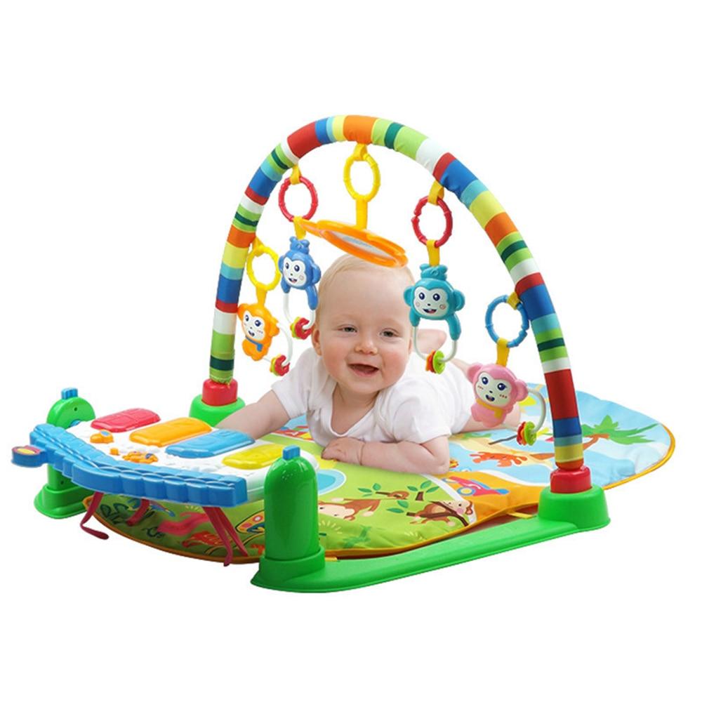 Bébé coup de pied et jeu Piano Gym tapis Rack nouveau-né musique Fitness Rack hochet jouet jouer ramper tapis début jouet éducatif