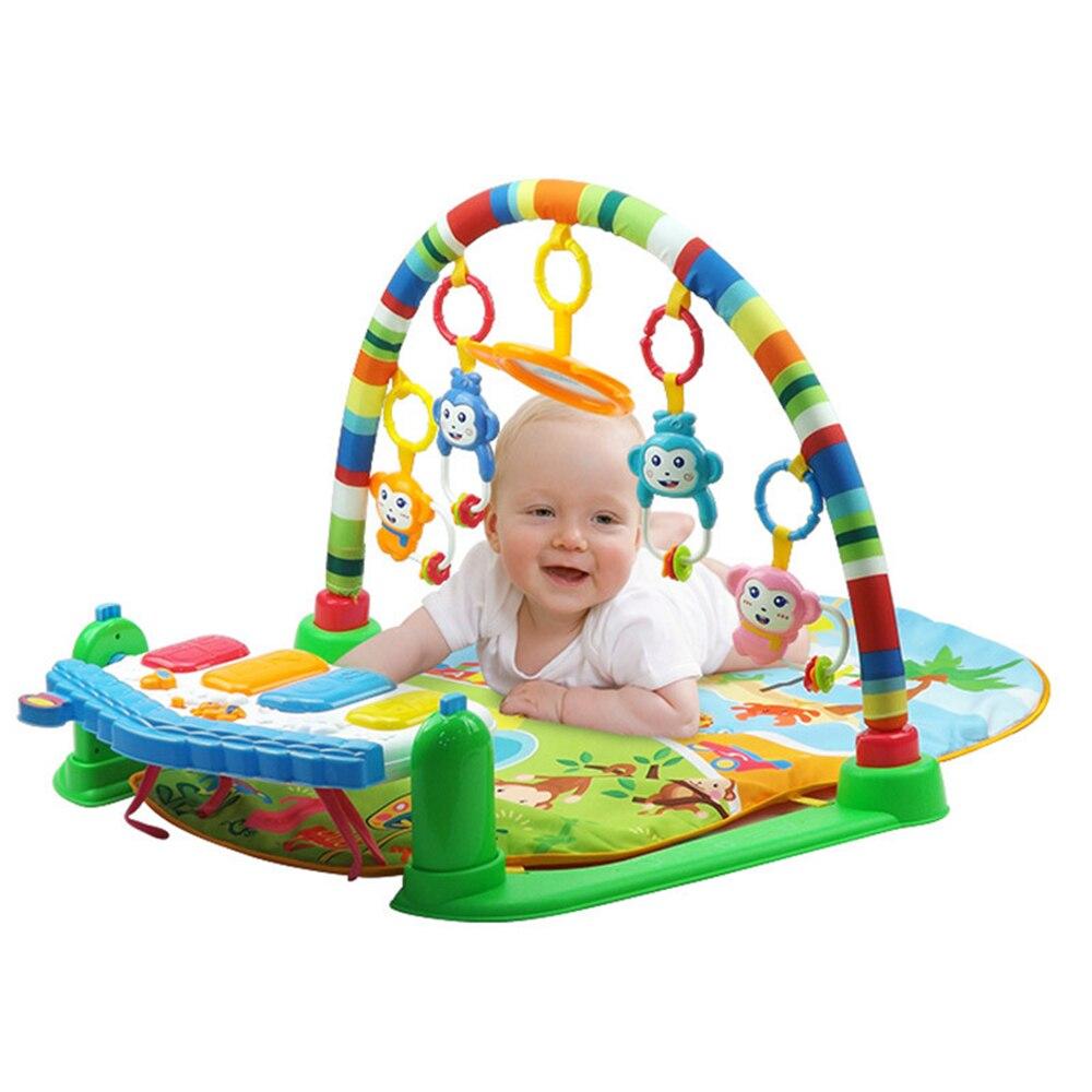 Bébé coup de pied et jouer Piano tapis de gymnastique support nouveau-né musique Fitness support hochet jouet jouer ramper tapis début jouet éducatif