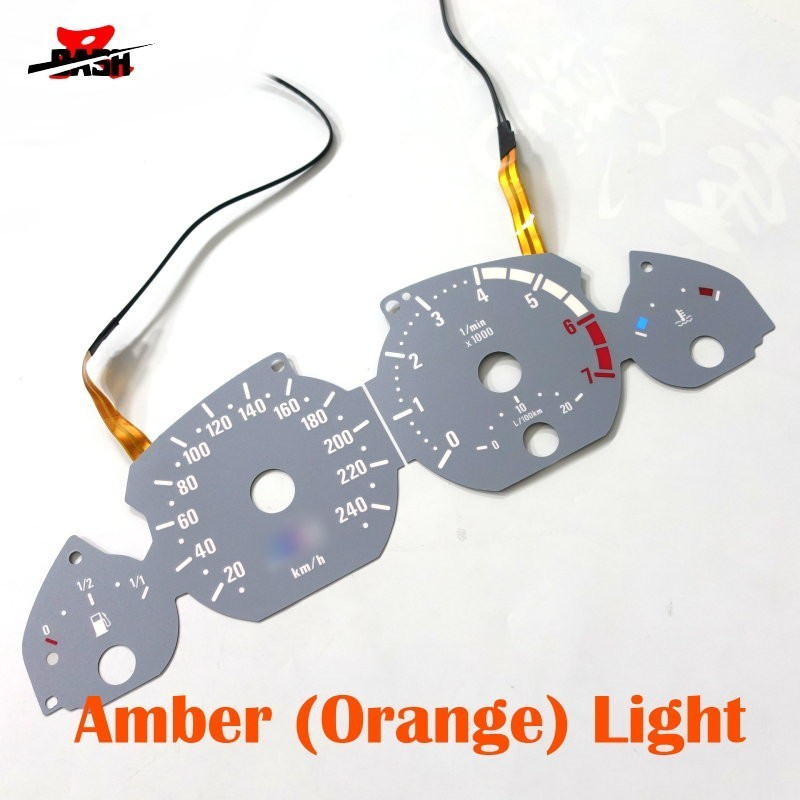 DASH 7000 RPM EL Glow Gauge for 3 series E46 Petrol Reverse Glow Gray face Orange