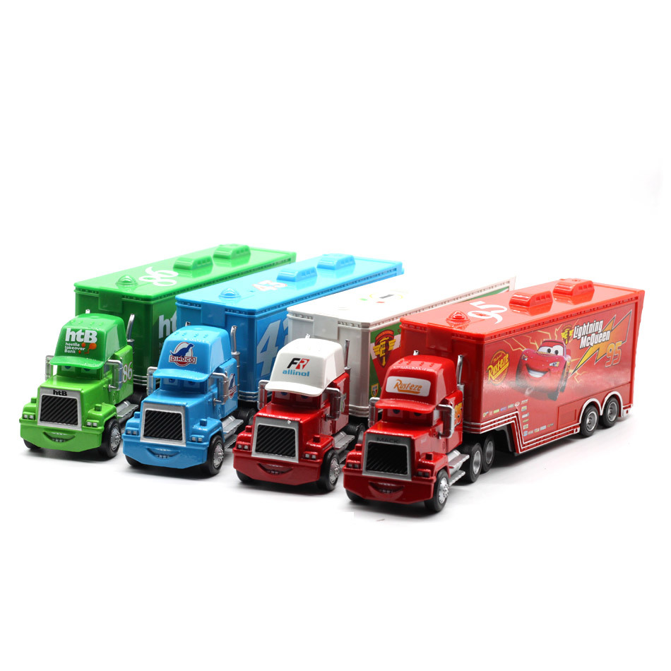 Disney Pixar Cars 4 Styles Mack Truck Mcqueen Uncle Diecast Metal Alloy And Plastic Modle Educational Toys Gifts For Children