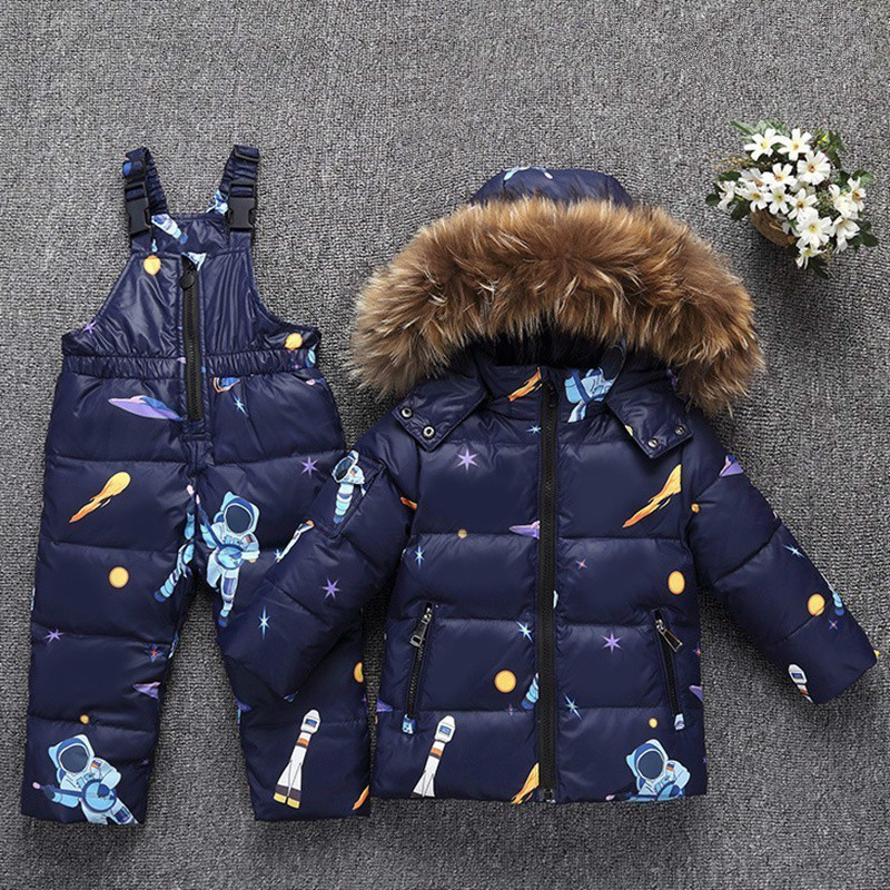 c9a532c96 Russia Boys Winter Coat Warm Down Jacket For Baby Girl Clothes Child  Clothing Sets Parka Real Fur Kids Snow Wear Infant Overcoat