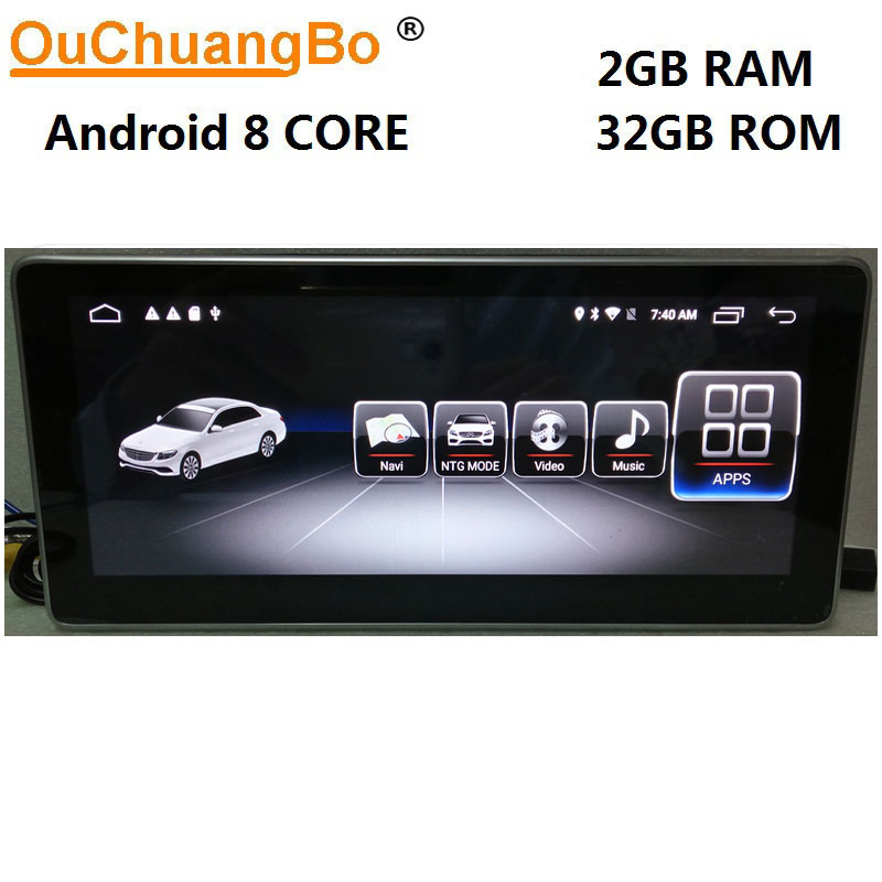 Ouchuangbo Android 8,1 радио gps аудио для Mercedes Benz GLC 43 200 260 300 C180 C200 C260 C300 C350 W205 с 2 ГБ + 32 ГБ