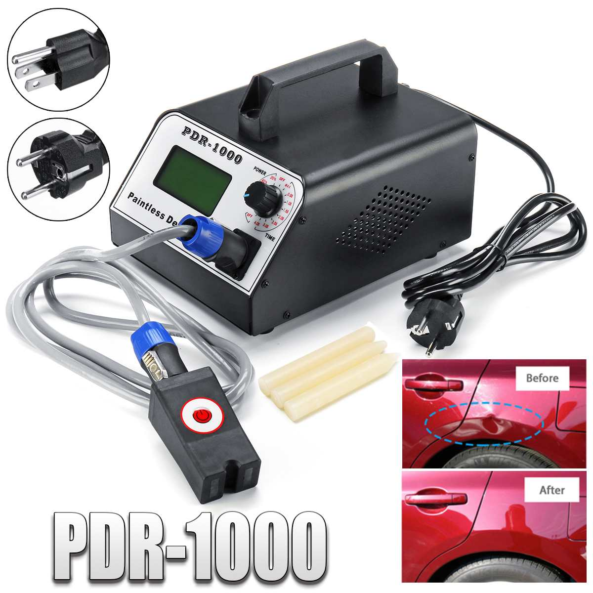 Car Paintless Dent Repair Remover Induction Heater 220V 1000W for Removing Dents Car Body Repair Sheet Metal Tool Sets Hot Box