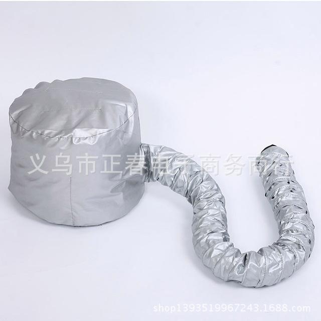 Professional Comfort Home Portable Salon hair dryer cap Hood Bonnet Attachment Silver Color Haircare Bonnet dryer attachment