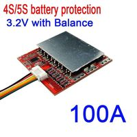 DYKB 4S 5S 100A 12.8V 16V PCM BMS battery protection board w/ Balance for LiFePo4 Lithium iron phosphate battery 3.2V|Battery Accessories|   -