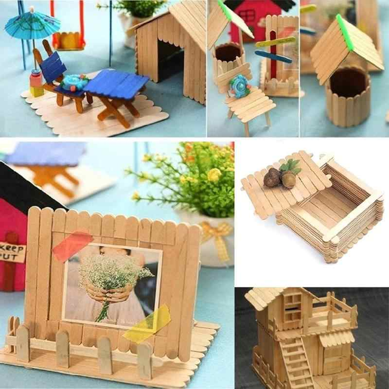 Detail Feedback Questions About 50pcs Lot Colored Wooden Popsicle