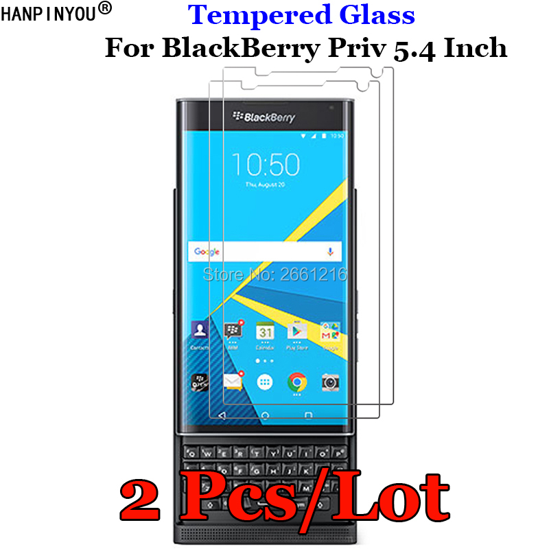 "2 Pcs/Lot For BlackBerry Priv STV100-1 STV100-3 STV100-4 5.4"" Tempered Glass 9H 2.5D Premium Screen Protector Protective Film(China)"