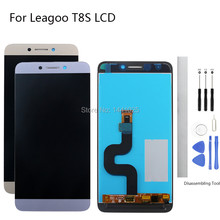Display Screen Replace for Leagoo T8S LCD Touch 5.5 inch gray gold Without Frame