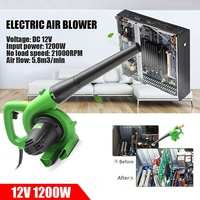 1200W 12V Portable Electric Air Blower Handheld Garden Car Computer Cleaner Industrial Dust Air Leaf Blow Remover Power Tools