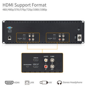 Image 5 - Feelworld D71 H Dual 7 inch HDMI AV 3RU Rack Mount Broadcast Monitor IPS HD 1280x800 LCD Displaying Thin Design with LAN In Port