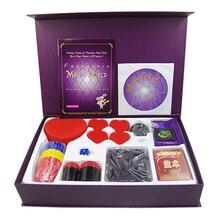 Волшебная Подарочная коробка обучающая игрушка набор с английским руководством пользователя и обучающая демонстрация DVD-фиолетовый