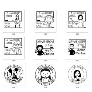 Stamp Seal Funny Spanish Personalized Teacher Homework Custaomized Male Designs for Seno