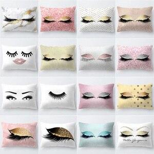 Image 2 - Marka Yeni Stil Yaratıcı Kirpik Polyester Yastık Kılıfı Bel Atmak Ev Dekor