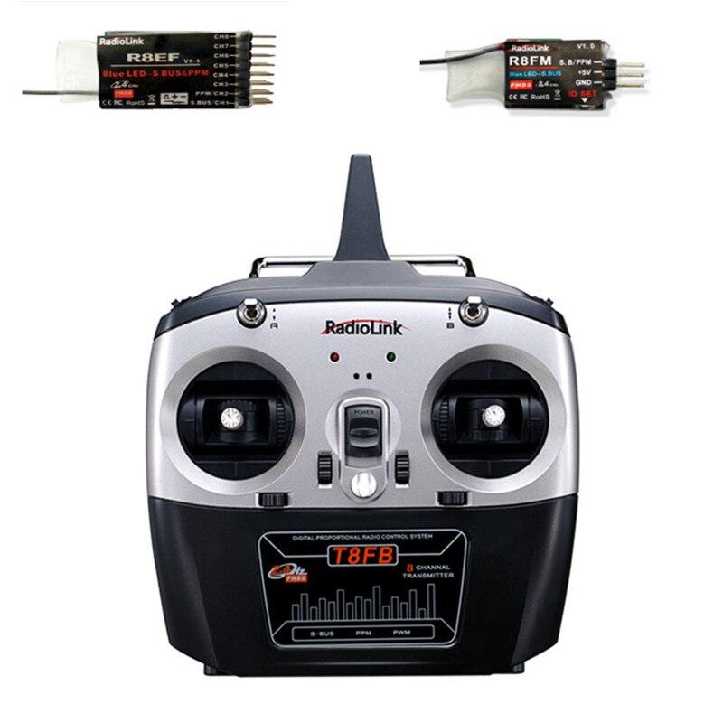 Émetteur RC Radiolink T8FB 2.4G 8 canaux avec récepteur R8EF ou R8FM Mode de Modulation GFSK télécommande Distance RC 1000 m