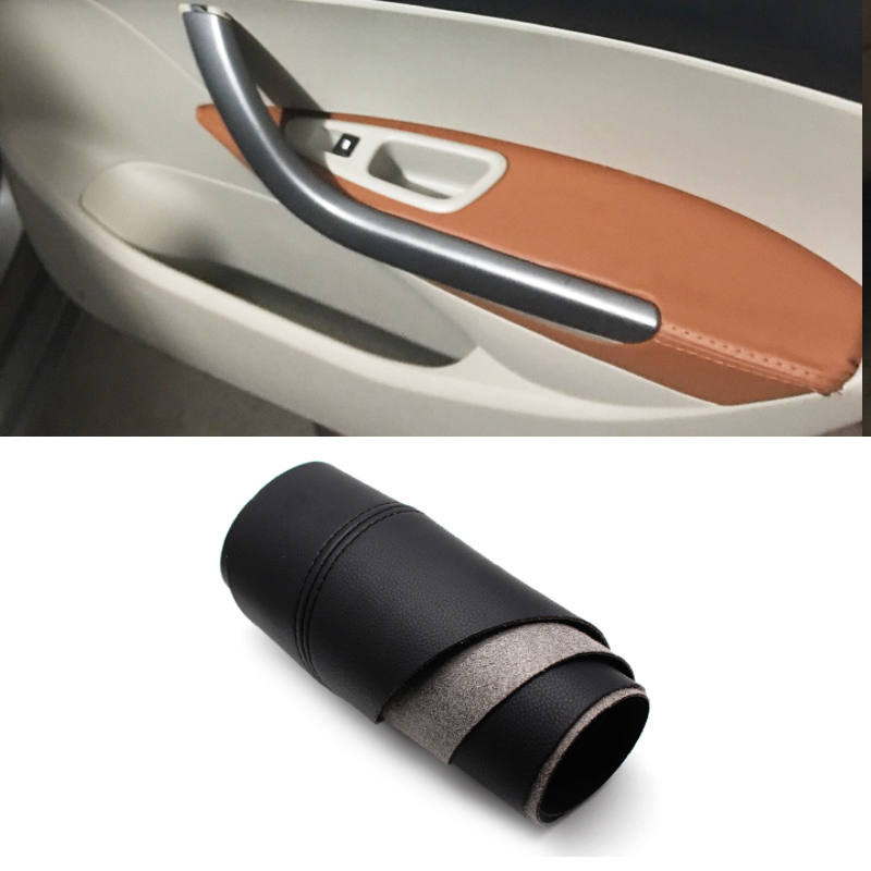 For Peugeot 408 2010 2011 2012 2013 Microfiber Leather Car Door Handle Panel Armrest Protective Cover Trim in Interior Mouldings from Automobiles Motorcycles