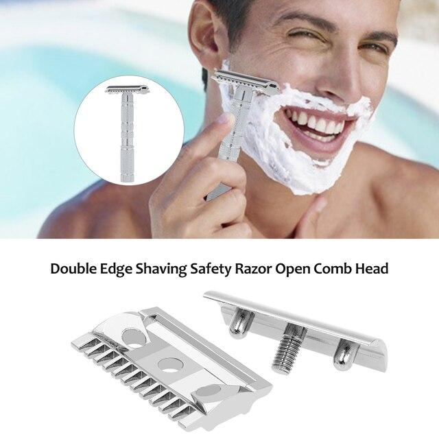 Double Edge Shaving Safety Razor Open Comb Head Men Safety Razor Head Shaving Tool