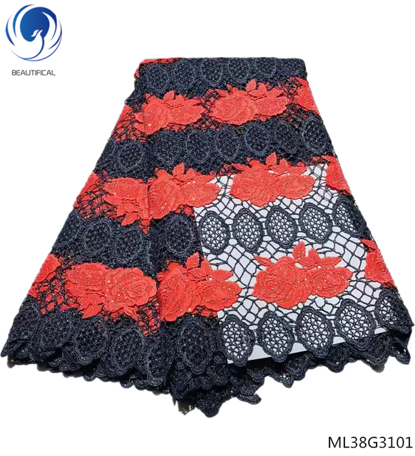 BEAUTIFICAL guipure laces fabrics high quality cord lace fabrics with rhinestones water soluble fabric 5yards/lot ML38G31