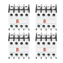 цена на 4PCS/Box F4-40 AC Auxiliary Contactor Touch Head Match CJX2 CJX4 LC1 4 On 0 Off