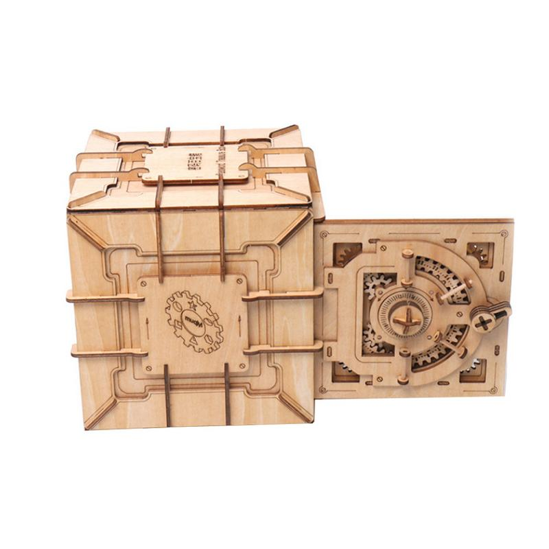 Creative Pandora boîte bloc de construction coffre au trésor en bois boîte de rangement cosmétique artisanat bijoux organisateur maison bureau décoration - 3