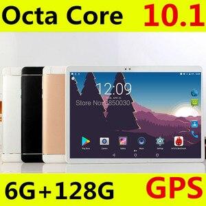 Image 2 - 2020 хит продаж 10 дюймов 3G/4G телефонный звонок планшетный ПК Android 8,0 Восьмиядерный ОЗУ 6 ГБ 128 Гб ПЗУ Бренд две sim карты WiFi GPS планшет