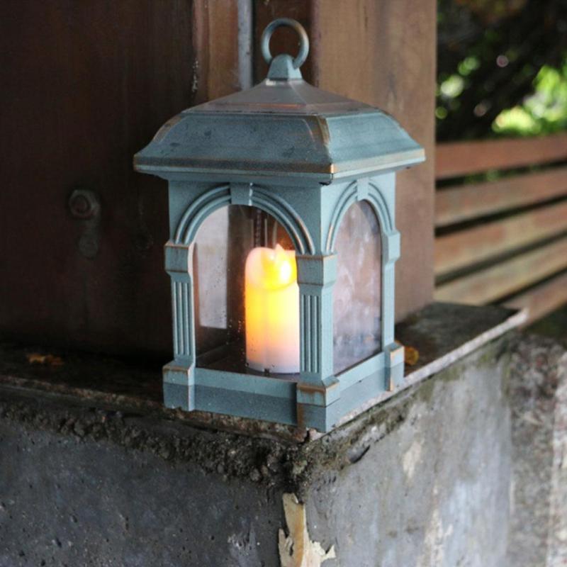 Candle Lantern Shape Solar LED Light IP44 Waterproof Outdoor Home Hang Lamp Solar Light Path Lawn Yard Garden Lamps Decoration