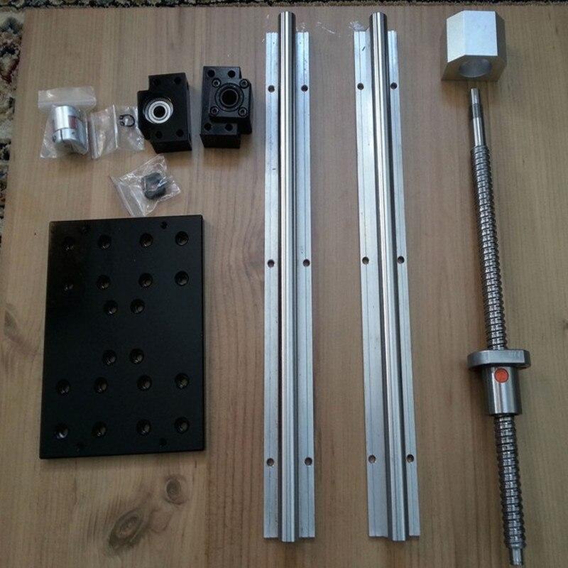 Plates-formes de travail CNC/table en aluminium avec jeux RM1605 SFU1605 + RAIL linéaire SBR16 + SBR16UU + NEMA23 (57mm) support de support de moteur pas à pas