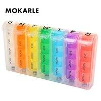 28 сетка пружинная коробка для таблеток 7 дней еженедельная пиллбокс пластиковая таблетница для хранения Коробка для хранения таблеток крас...