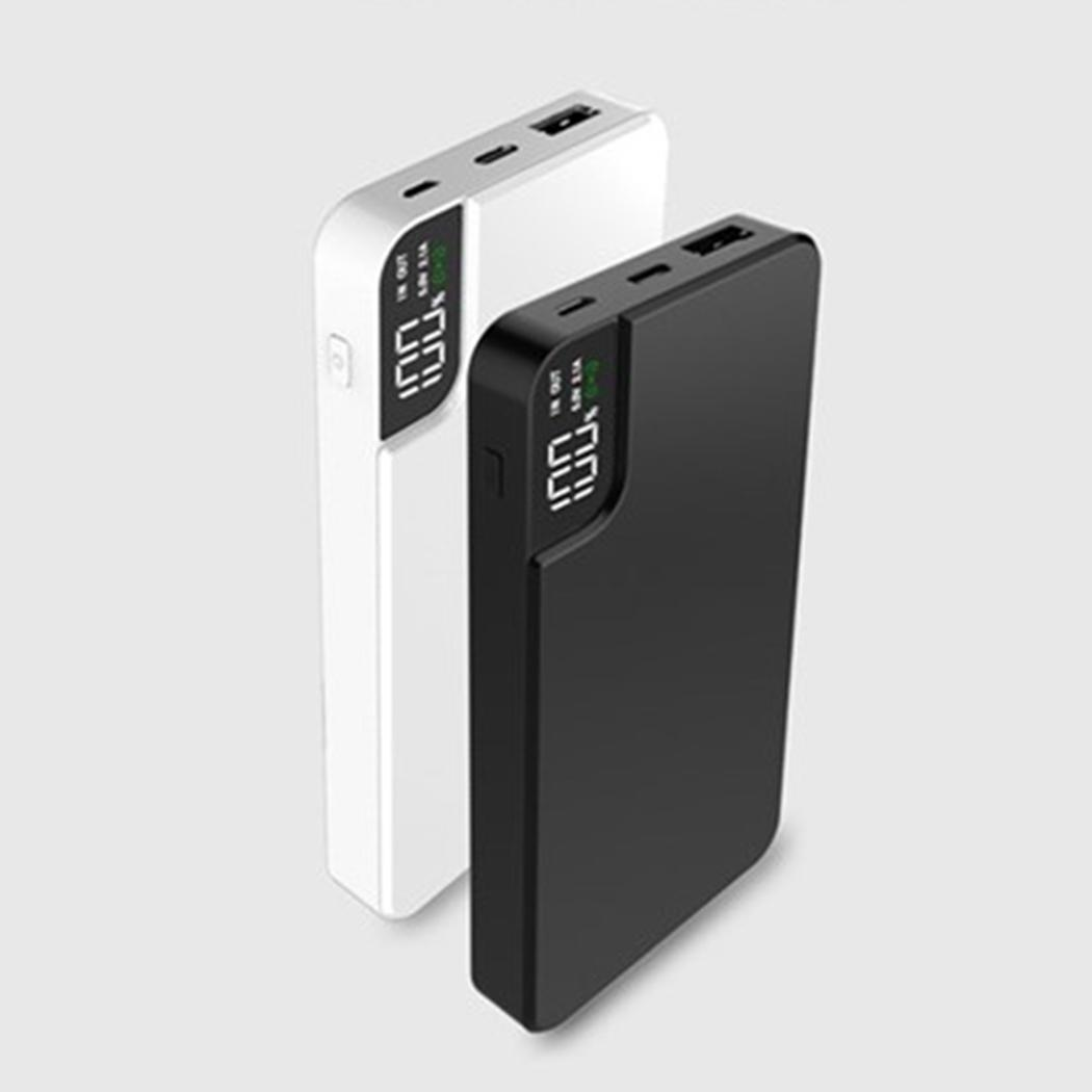 Qi Wireless Charger Digital Display 10000mAh Power Bank Type C Micro USB Fast Charger With Phone Holder Stand in Power Bank from Cellphones Telecommunications