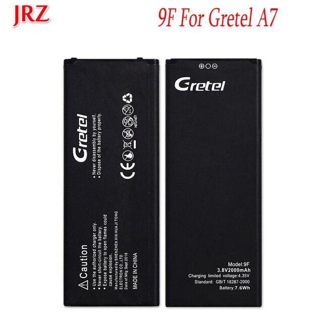 JRZ 2000 мАч для Gretel 9F A7 аккумулятор мобильный телефон высококачественный запасной аккумулятор для Gretel 9F A7