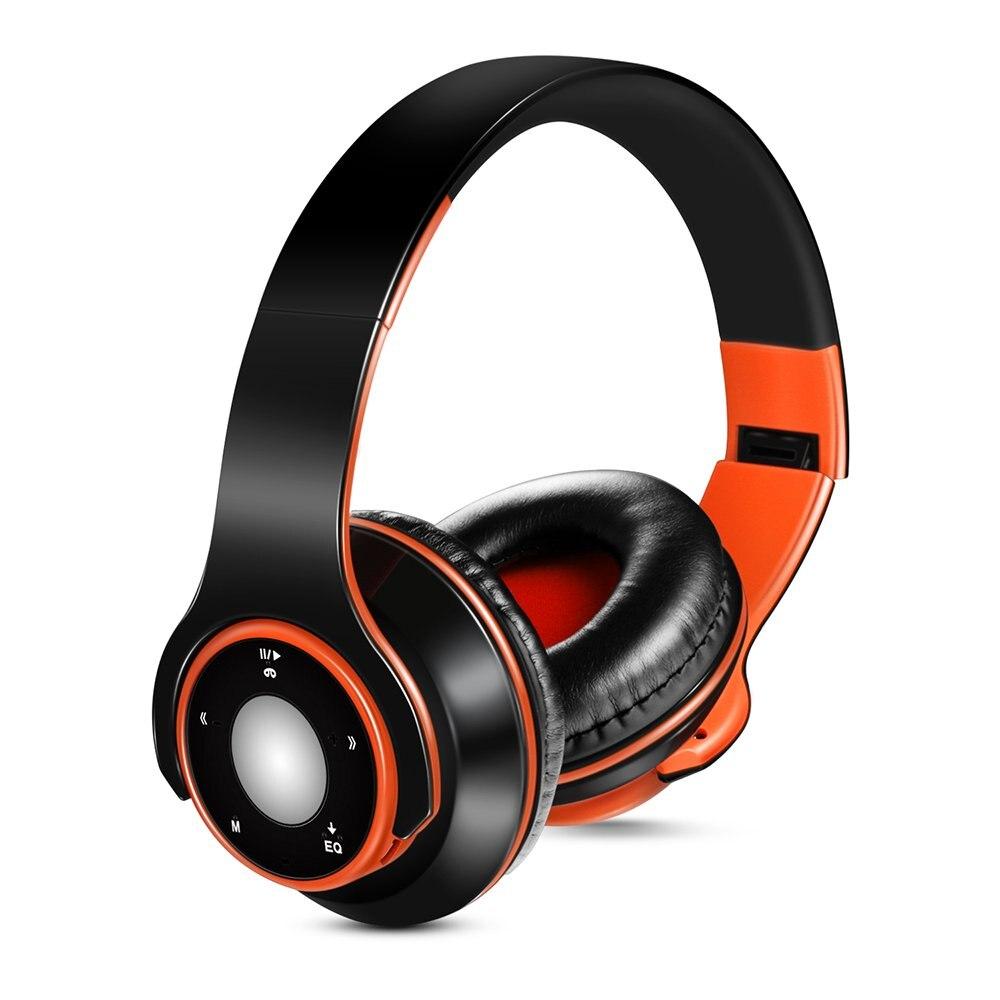 Беспроводные наушники Bluetooth 4,0 + Edr, Складная Проводная гарнитура с микрофоном Tf карта fm-радио