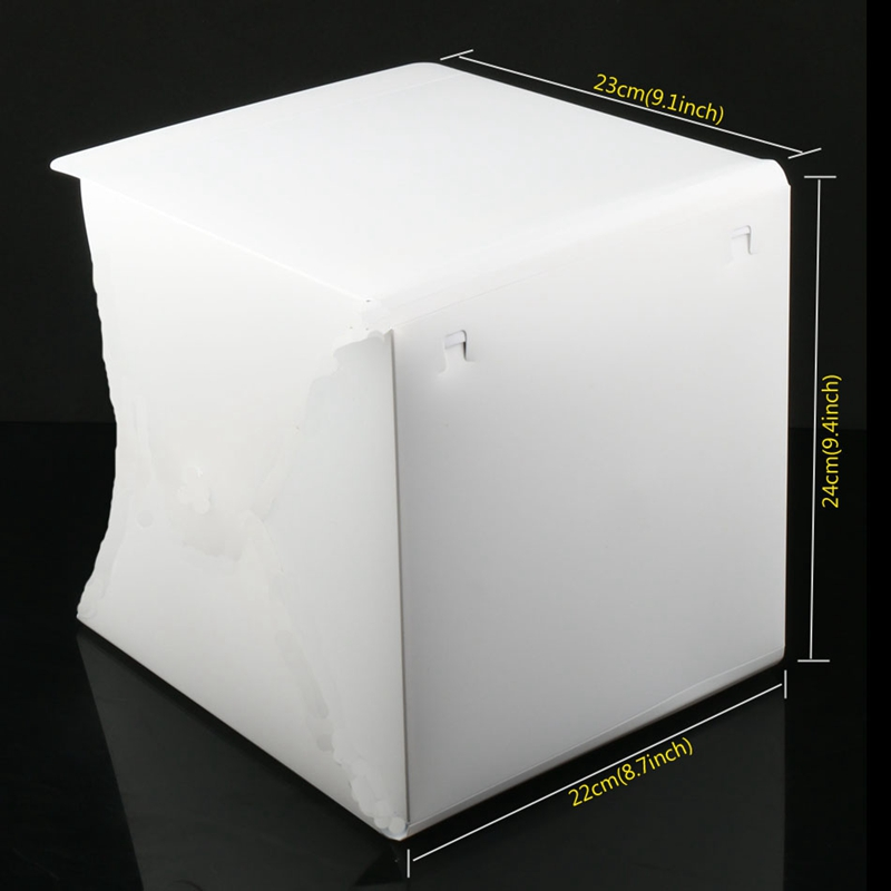 Image 3 - Mini Photo Studio Box, 8.9 X 9 X 9.5 Inch Portable Photography Light Tent Kit, White Folding Lighting Softbox With 40 Led Ligh-in Tabletop Shooting from Consumer Electronics