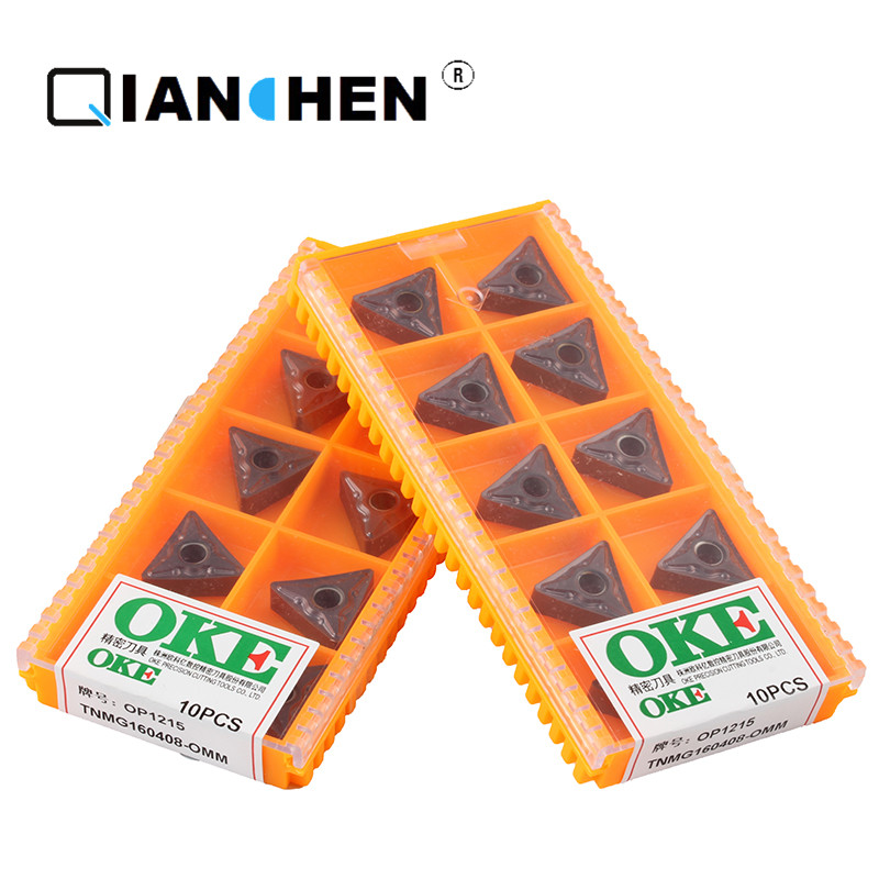 Original quality 10pcs/lot OKE high precision high performance high strength CNC TNMG160408 OMM OP1215  industry carbide inserts|Turning Tool| |  - title=