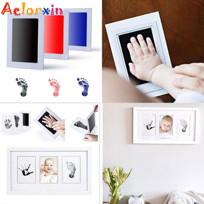 Baby Care Safety Baby Handprint Footprint Imprint Kit Baby Souvenirs Newborn Footprint Ink Pad Infant Toy Gift Baby Souvenirs