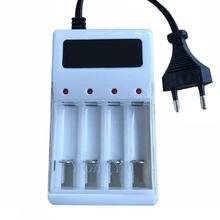 Для радиоуправляемых игрушек, игрушек, электроники AA AAA 17500 18490, зарядное устройство для аккумуляторов переменного тока, 220 В, штепсельная вилка стандарта ЕС/США, 4 порта, зарядное устройство NiMH NiCd