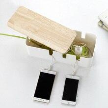1 Pc Draad Opbergdoos Plastic Multifunctionele Anti Dust Mode Huishoudelijke Benodigdheden Case Voor Organiseren Charger Socket Kabels